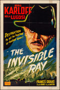 "Movie Posters:Horror, The Invisible Ray (Realart, R-1948). Folded, Fine+. One Sheet (27""X 41""). Horror.. ..."
