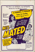 "Movie Posters:Exploitation, Mis-Mated (Federated, 1952). Folded, Fine+. One Sheet (27"" X 41"").Exploitation.. ..."
