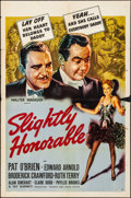 "Movie Posters:Crime, Slightly Honorable (United Artists, 1939). Folded, Fine+. One Sheet (27"" X 41""). Crime.. ..."