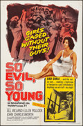 Movie Posters:Exploitation, So Evil, So Young (United Artists, 1961). Folded, Fine/Ver...