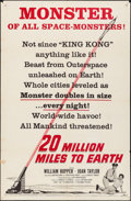 Movie Posters:Science Fiction, 20 Million Miles to Earth & Other Lot (Columbia, 1957). Fo...