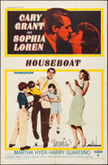 "Movie Posters:Comedy, Houseboat (Paramount, 1958). Folded, Very Fine-. One Sheet (27"" X41""). Comedy.. ..."
