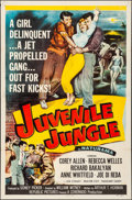 "Movie Posters:Crime, Juvenile Jungle (Republic, 1958). Folded, Very Fine-. One Sheet(27"" X 41""). Crime.. ..."