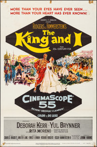 "The King and I (20th Century Fox, 1956). Folded, Fine/Very Fine. One Sheet (27"" X 41""). Mitchell Hooks Artwork..."