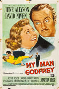 """Movie Posters:Comedy, My Man Godfrey & Other Lot (Universal International, 1957).Folded, Fine/Very Fine. One Sheets (2) (27"""" X 41""""). Comed..."""