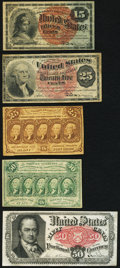 Fractional Currency:Fourth Issue, Fractional Quintet.. ... (Total: 5 notes)