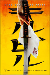 "Kill Bill: Vol. 1 (Miramax, 2003). Rolled, Near Mint. Mylar One Sheet (27"" X 40"") SS, Advance. Action"