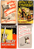 Books:Hardcover, Don Marquis and George Herriman archy and mehitabel Hardcover Books Group of 4 (Doubleday, Doran, and Co, 1930-35)... (Total: 4 Items)