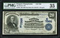 National Bank Notes:Pennsylvania, Freeport, PA - $20 1902 Date Back Fr. 642 The Farmers NB Ch. # (E)7366 PMG Choice Very Fine 35.. ...