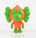 Collectible:Contemporary, KAWS X BAPE. Baby Milo (Pink/Green), 2005. Painted cast vinyl. 3-3/4 x 3-3/4 x 2-1/4 inches (9.5 x 9.5 x 5.7 cm). Stampe...