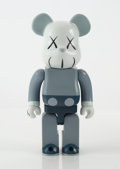 Collectible:Contemporary, KAWS X BE@RBRICK. Companion 400% (Blue/Grey), 2006. Painted cast vinyl. 10-3/4 x 5 x 3-1/2 inches (27.3 x 12.7 x 8.9 cm)...