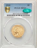 1910 $5 MS63 PCGS Secure. CAC. PCGS Population: (698/279 and 12/27+). NGC Census: (1000/340 and 14/18+). CDN: $850 Whsle...
