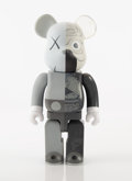 Collectible:Contemporary, KAWS X BE@RBRICK. Dissected Companion 400% (Grey), 2010. Painted cast vinyl. 10-3/4 x 5 x 3-1/2 inches (27.3 x 12.7 x 8....