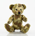 Other:Contemporary, KAWS X BAPE. Green Camo Bear. Cotton and polyester plush toy. 7-1/2 x 5 x 5-1/2 inches (19.1 x 12.7 x 14 cm). Signed by ...