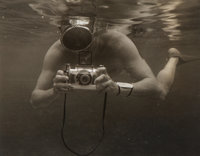 Peter Stackpole (American, 1913-1997) Untitled (Photographer Under Water), circa 1952 Gelatin silver