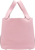 """Luxury Accessories:Bags, Hermès Rose Sakura Clemence Leather Picotin Lock MM Bag with Palladium Hardware. T, 2015. Condition: 1. 8.5"""" Width x 8"""" Heig..."""