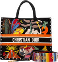 """Luxury Accessories:Bags, Christian Dior Set of Two: """"La Terre"""" Book Tote Bag & Rainbow Shoulder Strap. Condition: 1. See Extended Condition Rep... (Total: 2 )"""