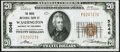 National Bank Notes:District of Columbia, Washington, DC - $20 1929 Ty. 1 The Riggs National Bank Ch. # 5046 Choice About Uncirculated.. ...