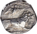 Ancients:Greek, Ancients: CYPRUS. Amathus. Zotimus(?) (ca. 385-380 BC). AR stater or didrachm (19mm, 6.55 gm, 7h). NGC Choice XF 4/5 - 4/5....