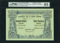 "French Indochina Banque de l'Indo-Chine 100 Dollars = 100 Piastres 21.1.1875 (ND c.1877-93) Pick 23pe ""Printer's Es..."