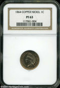 Proof Indian Cents: , 1864 1C Copper-Nickel PR63 NGC....