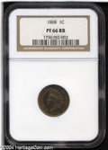 Proof Indian Cents: , 1868 1C PR66 Red and Brown NGC....