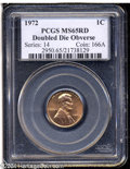Lincoln Cents: , 1972/72 1C Doubled Die MS65 Red PCGS....
