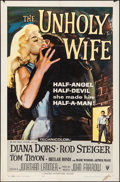 Movie Posters:Crime, The Unholy Wife (RKO, 1957). Folded, Fine/Very Fine.