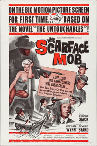 """The Scarface Mob & Other Lot (Desilu, 1962). Folded, Very Fine. Autographed One Sheet, One Sheet (27"""" X 41""""..."""