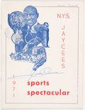 Olympic Collectibles:Autographs, 1971 Jesse Owens Signed Program....
