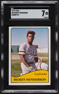 Baseball Cards:Singles (1970-Now), 1979 TCMA Ogden A's Rickey Henderson #9 SGC NM 7....
