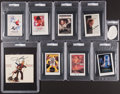 Autographs:Index Cards, Entertainers Cut Signature Lot of 9, PSA/DNA Authentic.... (Total: 8 items)