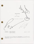 Autographs:Letters, Williams, Robbins, & Sciorra Multi-Signed Cadillac Man Script....