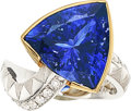 Estate Jewelry:Rings, Tanzanite, Diamond, Platinum, Gold Ring . ...