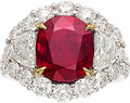 Estate Jewelry:Rings, Ruby, Diamond, Colored Diamond, Platinum Ring, JB Star . ...