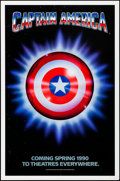 "Movie Posters:Action, Captain America (Columbia/Tristar, 1990). Rolled, Very Fine-. OneSheet (27"" X 41"") SS, Advance. Action.. ..."