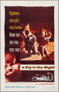 "Movie Posters:Crime, A Cry in the Night & Other Lot (Warner Brothers, 1956). Folded, Very Fine-. One Sheets (3) (27"" X 41""). Crime.. ... (Total: 3 Items)"