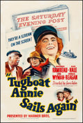 """Movie Posters:Comedy, Tugboat Annie Sails Again (Warner Brothers, 1940). Fine+ on Linen.One Sheet (27.25"""" X 41""""). Comedy.. ..."""