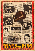 "Movie Posters:Sports, Reyes del Ring (1940s). Very Fine- on Linen. Argentinean One Sheet (29"" X 43""). Sports.. ..."