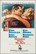 """Movie Posters:Drama, Strangers When We Meet & Other Lot (Columbia, 1960). Folded, Very Fine. One Sheets (2) (27"""" X 41""""). Drama.. ... (Total: 2 Items)"""