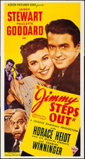 "Movie Posters:Comedy, Pot O' Gold (Astor Pictures, R-1946). Folded, Very Fine+. ThreeSheet (41"" X 78"") Reissue Title: Jimmy Steps Out"