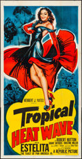 "Movie Posters:Comedy, Tropical Heat Wave (Republic, 1952). Folded, Very Fine-. Three Sheet (41"" X 80""). Comedy.. ..."