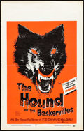 """Movie Posters:Mystery, The Hound of the Baskervilles (United Artists, 1959). Folded, Fine/Very Fine. Day-Glo Window Card (14"""" X 22""""). Mystery.. ..."""