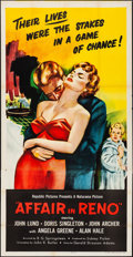 "Movie Posters:Crime, Affair in Reno (Republic, 1957). Folded, Very Fine-. Three Sheet(41"" X 80""). Crime.. ..."