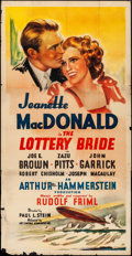 """Movie Posters:Musical, The Lottery Bride (Artcinema Associates, R-1937). Folded, VeryGood/Fine. Three Sheet (41"""" X 80""""). Musical.. ..."""