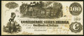 Confederate Notes:1862 Issues, T39 $100 1862 PF-5 Cr. 291 Extremely Fine-About Uncirculated.. ...