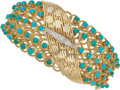 Estate Jewelry:Bracelets, Diamond, Turquoise, Gold Bracelet. ...