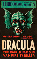 Movie Posters, Dracula (1928). Fine/Very Fine. Theatrical Window ...