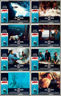 Movie Posters:Horror, Jaws (Universal, 1975). Very Fine+. Lobby Card Set...