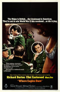 Movie Posters:War, Where Eagles Dare (MGM, 1968). Folded, Very Fine-....